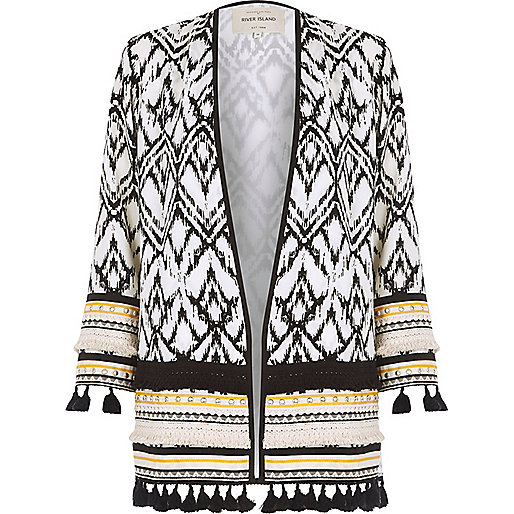 River Island Aztec Print Kimono Jacket | Five Good Things | Aye Wanderful