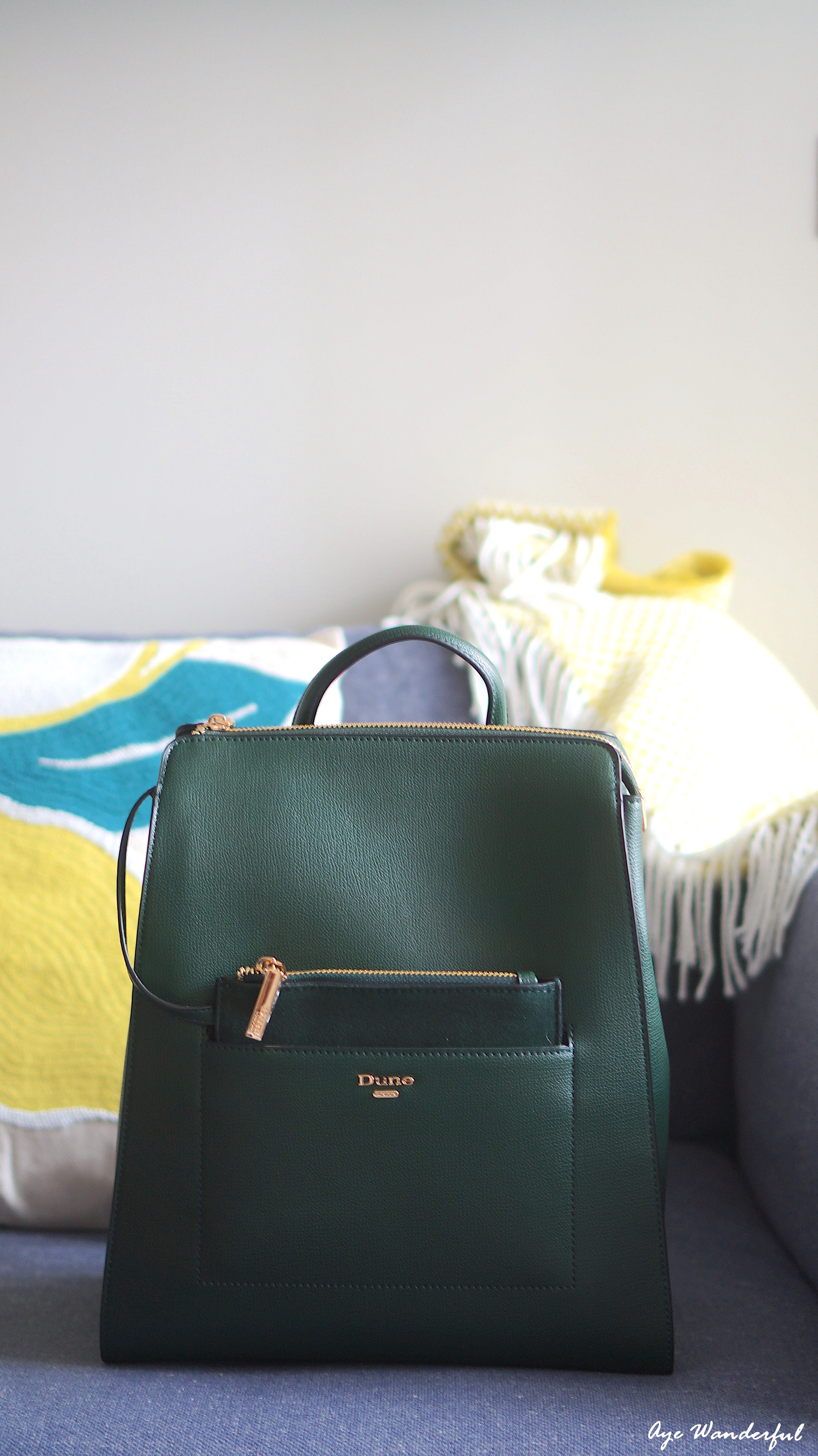 Dune Dahlier backpack | Dune London | Five Good Things July | July Favourites | www.ayewanderful.com
