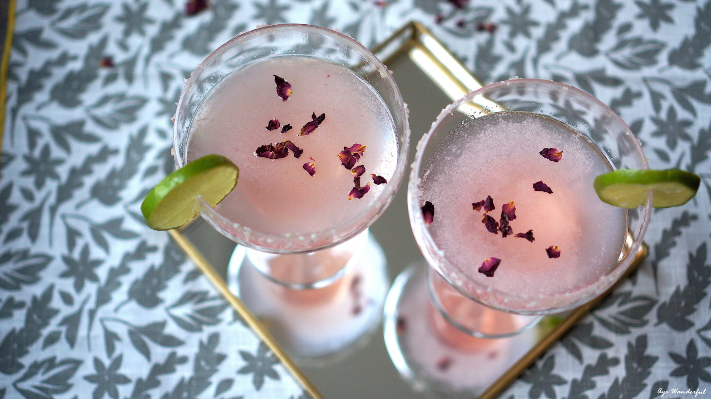 My Rose Margaritas are a twist on the classic one; take home entertaining to the next level with my recipe for this pretty in pink cocktail. Read more on www.ayewanderful.com