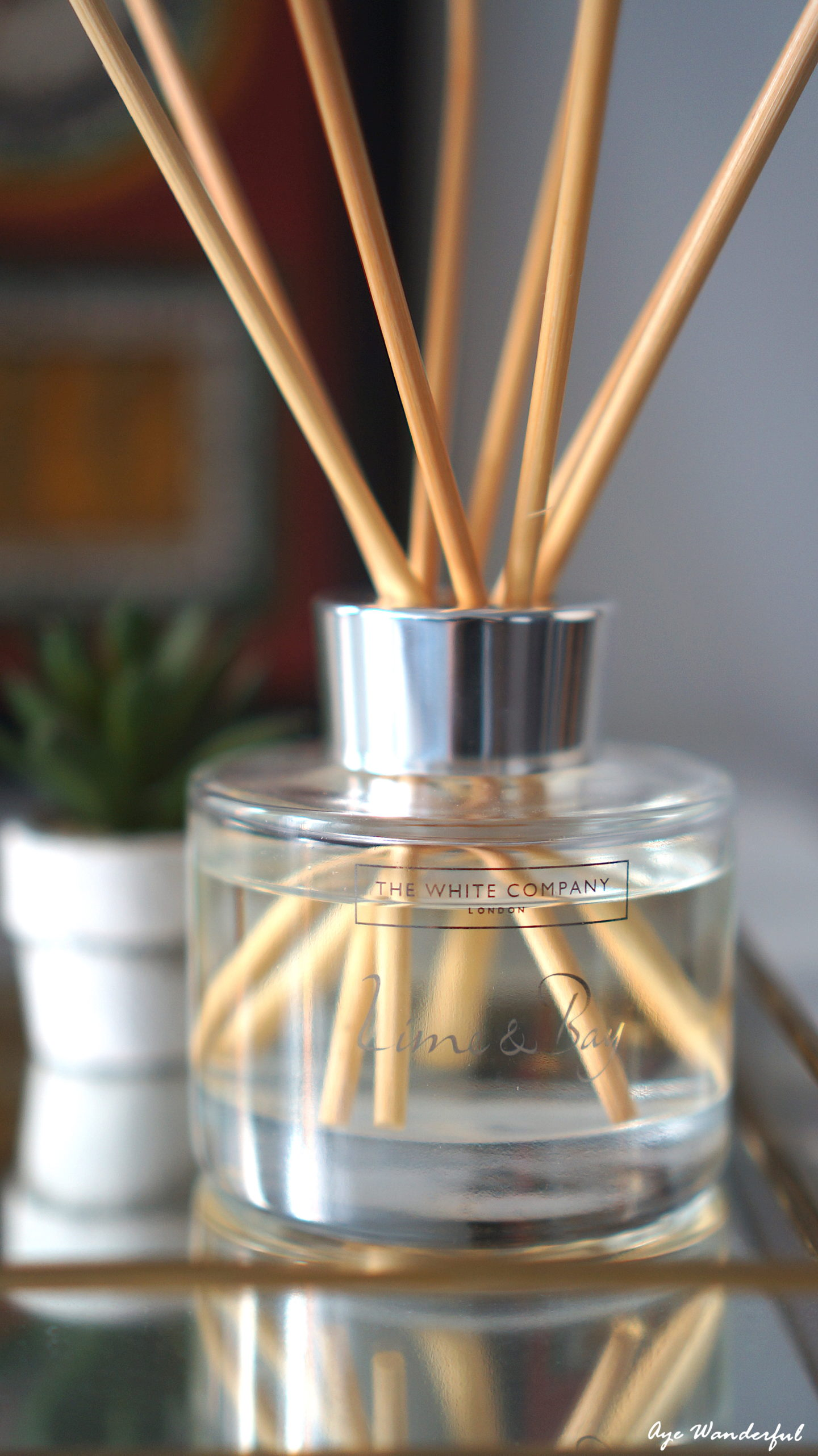 Lime and Bay Reed Diffuser | The White Company | Five Good Things | August | www.ayewanderful.com