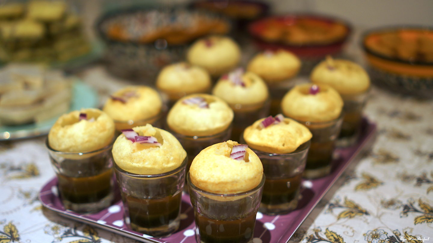 Pani Puri Shots Indian Party Snack   Read more on www.ayewanderful.com