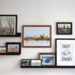 Travel Postcards Photo Gallery Feature Wall | How to use, display and organise travel souvenirs in home decor | Interior Inspiration | Travel Tips | Read more on www.ayewanderful.com