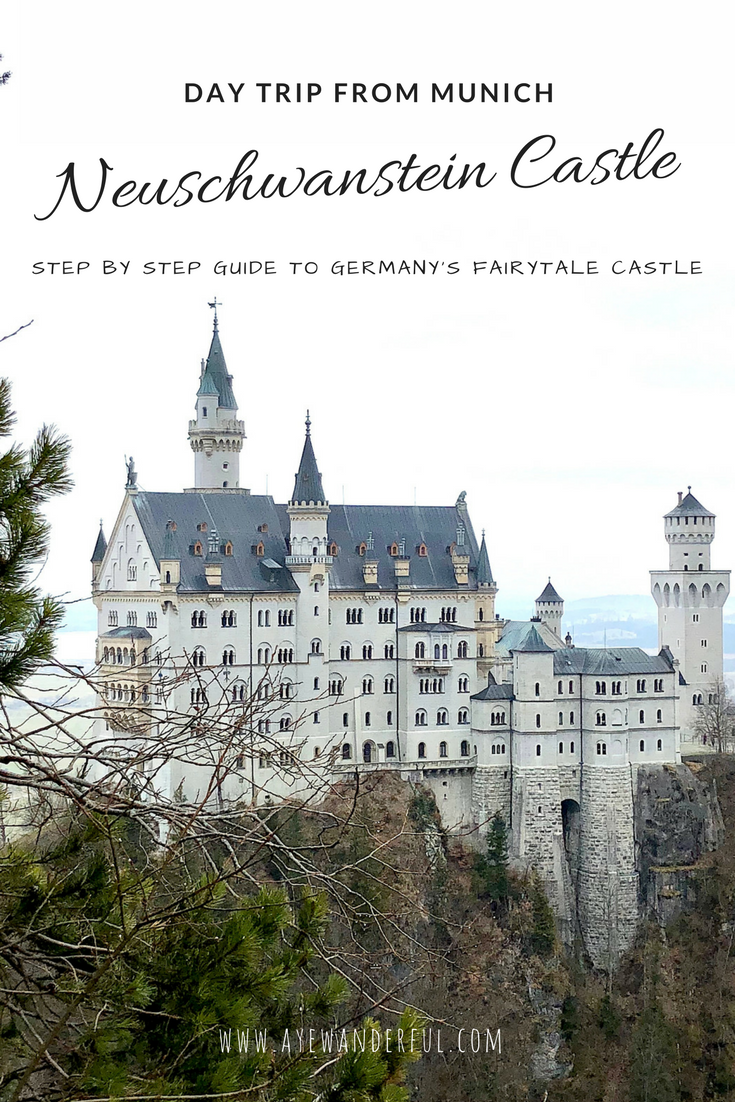 Neuschwanstein Castle | Germany | Day trip from Munich | Public Transport | Step by Step Guide | Read more on www.ayewanderful.com