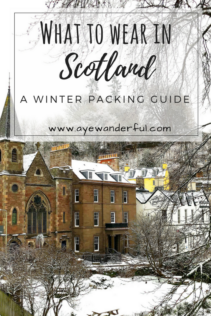 Winter Getaway Packing Guide | Packing List for Scotland | Winter Packing List | Packing checklist